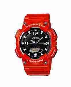 Casio AEQ-S810WC-4av tough solar red color digital sports watch