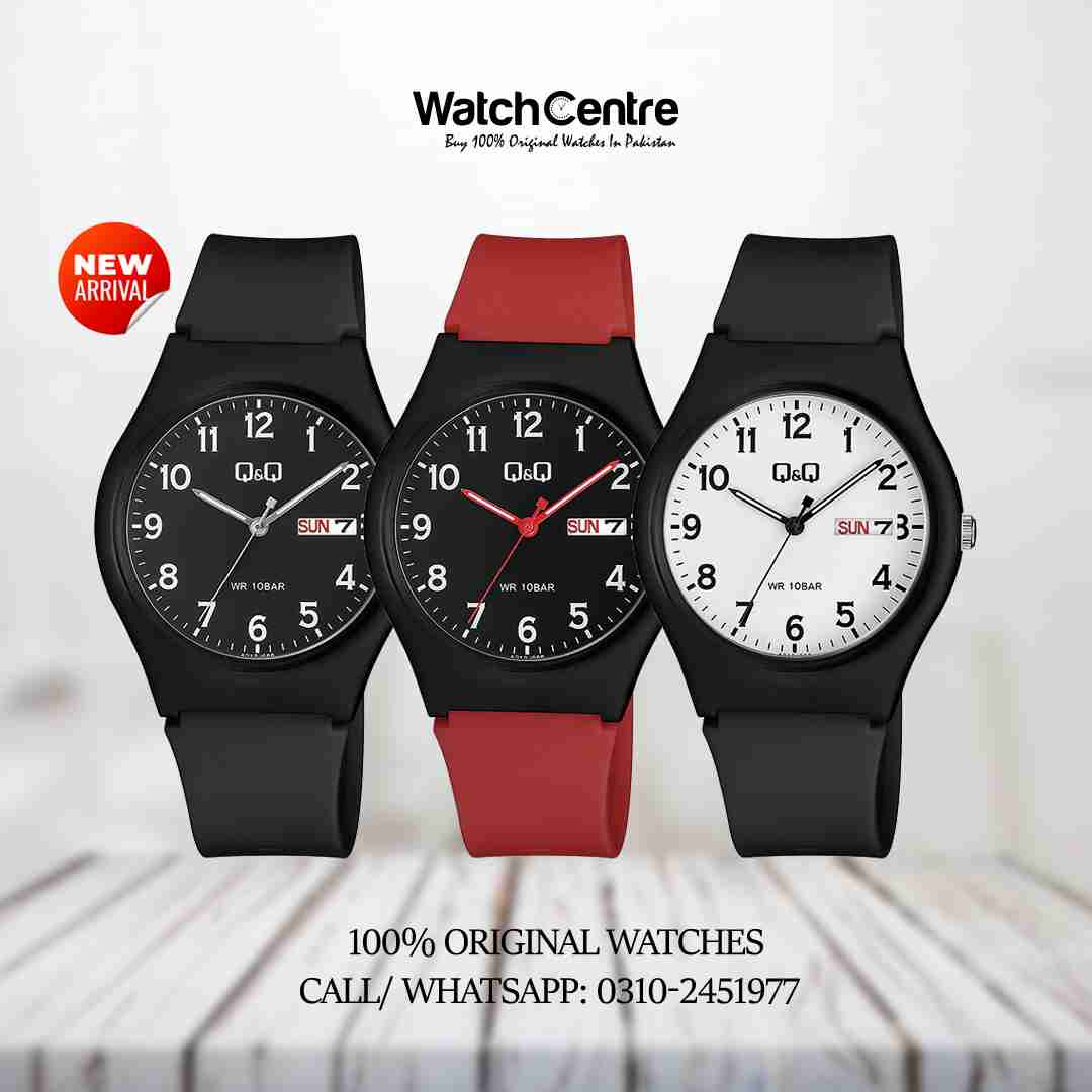 Q&Q Analog Date Day Budget Watch in Rs. 2500/-