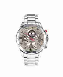 Curren 8275 grey dial multi-hand mens budget wrist watch