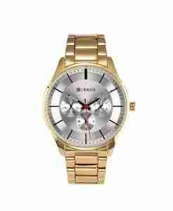 Curren 8282 golden multi-hand unisex wrist watch