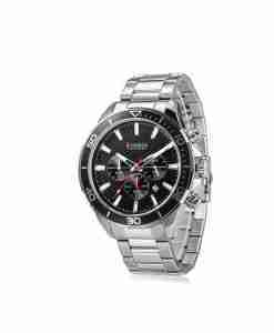 Curren 8309 Black chronograph dial silver stainless steel mens business gift watch