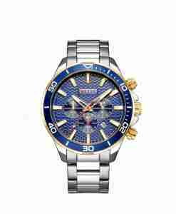 Curren 8309 blue dial chronograph gift watch