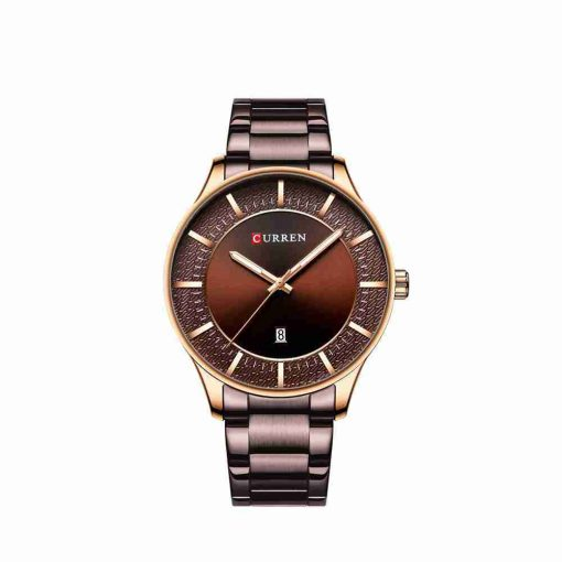 Curren 8347 Brown dial & strap gents executive watch
