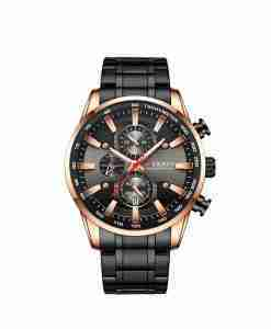 Curren 8351 Men's Black Stainless Steel Gift Watch with Black Chronograph Dial