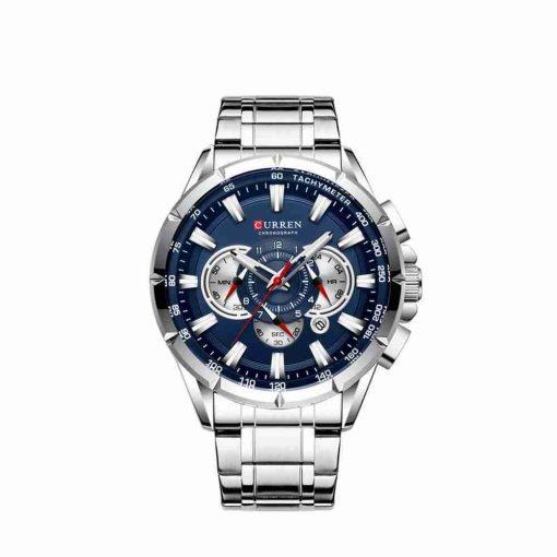 Curren 8363 Business Class Blue Dial Chronograph Wrist Watch