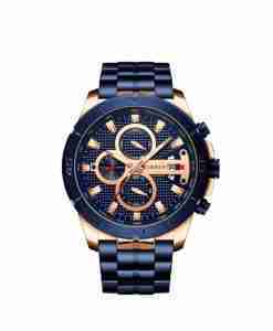 Curren 8337 Mens Blue Steel Gift Watch