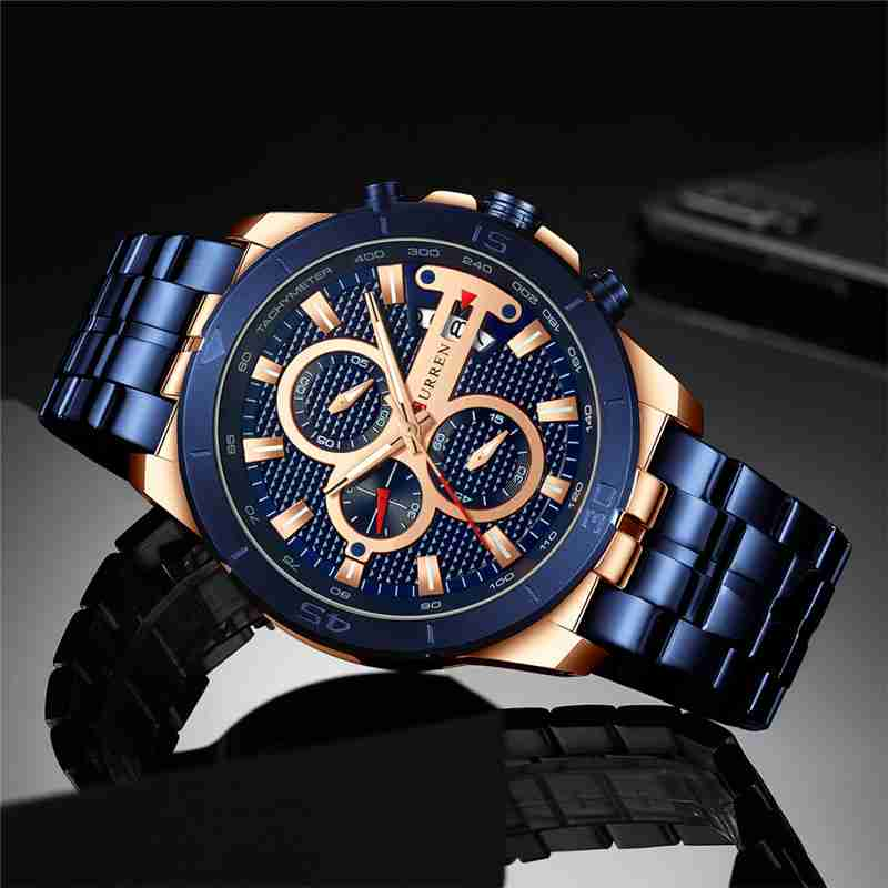 Curren Classic 8337 Model Watch with Blue Steel & Dial