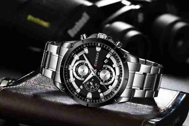 Curren Classic 8360 Black Dial & Silver Steel Executive Watch