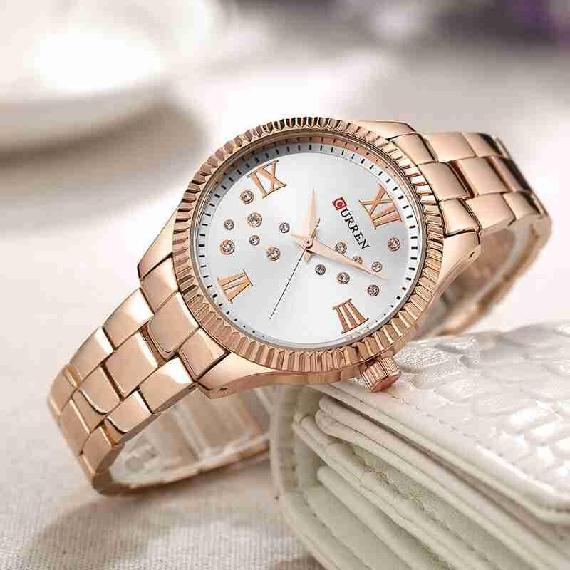 Curren 9009 Rose Gold Ladies Gift Watch