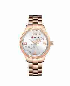 Curren Rose Gold 9009 Female Gift Watch