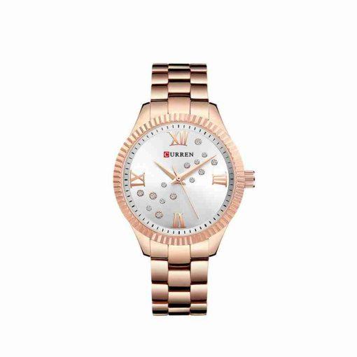 Curren Rose Gold 9009 Female Gift Watch
