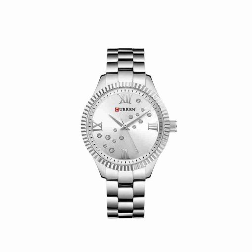 Curren 9009 Silver Ladies Stainless Steel Watch