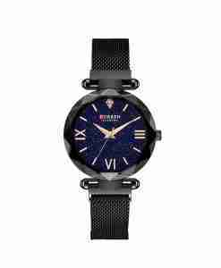 Curren 9063 jet black magnetic wrist watch easy to wear fashionable