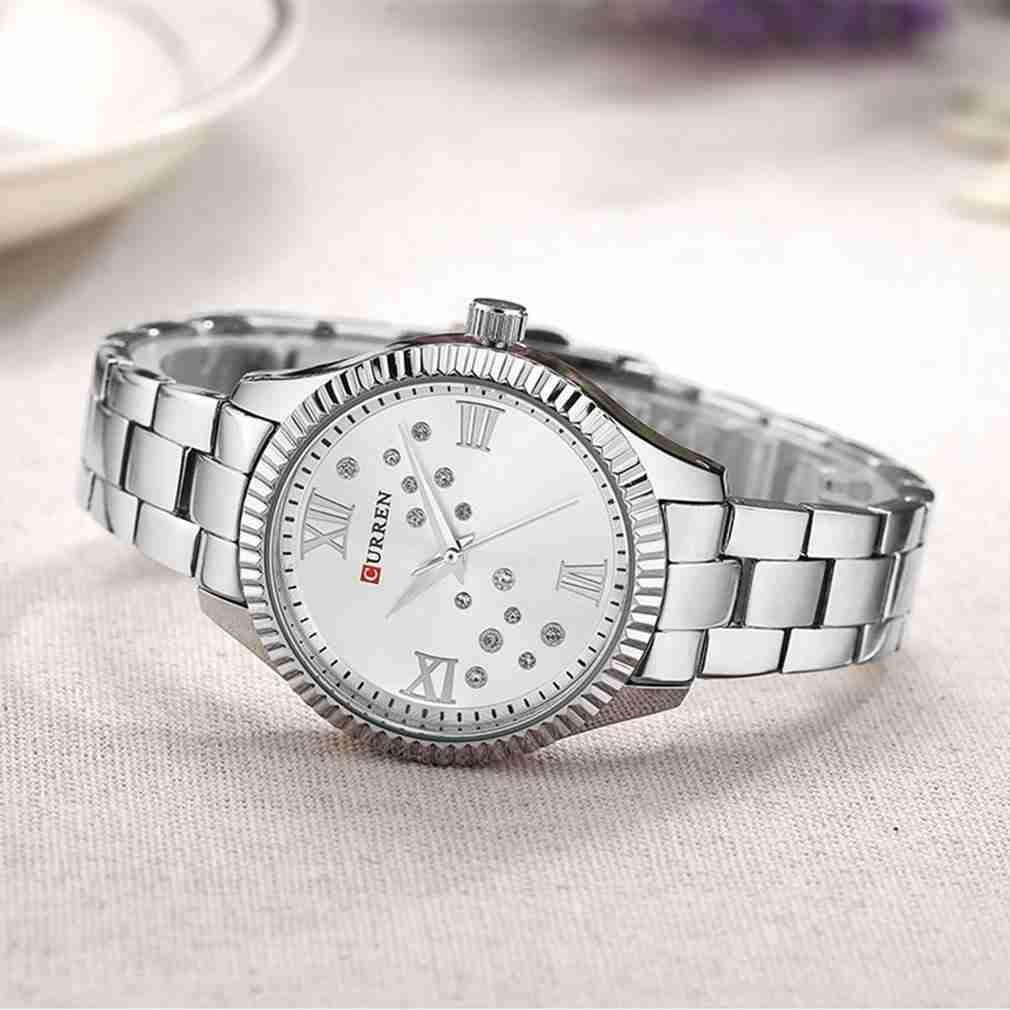 Curren 9009 Silver Stainless Steel Ladies Wrist Watch