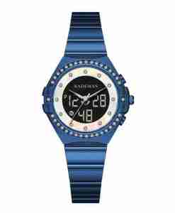 Kademan K9079L stylish blue steel analog digital ladies gift watch