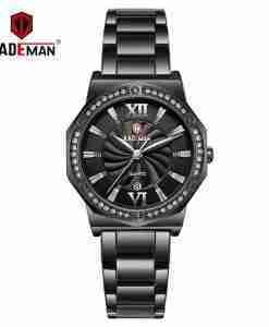 Kademan 829 black analog stylish ladies gift watch