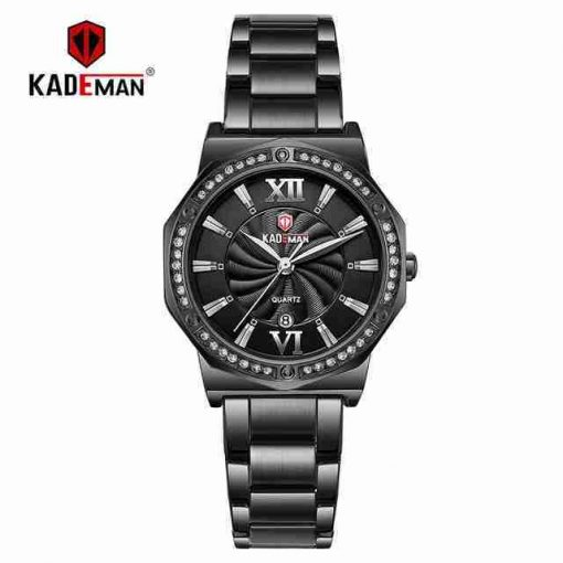 Kademan 829 black analog stylish ladies gift watch
