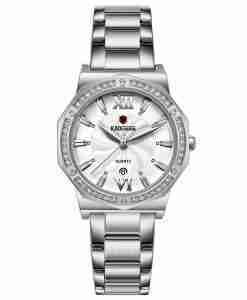 Kademan 829 silver ladies stainless steel gift watch anniversary