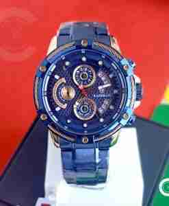 Kademan 9087 mens blue stainless steel chronograph gift watch