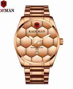 Kademan 9107 rose gold big dial mens stylish football dial wrist watch