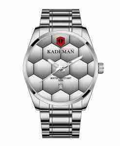Kademan 9107 silver stainless steel big dial mens wrist watch with the football design on the dial