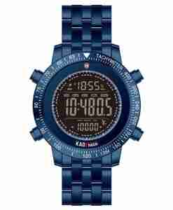 Kademan K849 Blue Digital Steel Watch with Step Count Function
