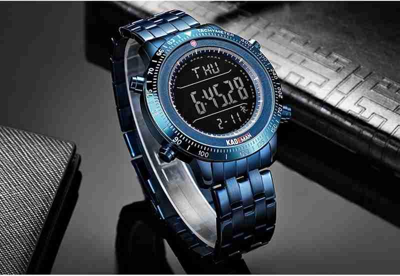 Kademan K849G Blue Digital Watch Display