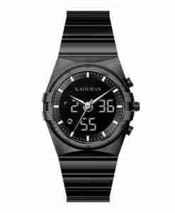 Kademan K9079 black dual analog digital steel fashion unisex watch