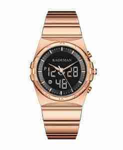 Kademan K9079 Rose gold Analog Digital Wrist Watch