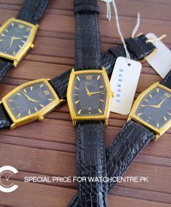 Seiko calfskin premium leather gent's wrist watch