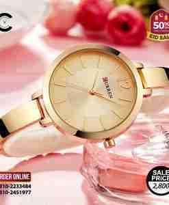 Curren 9012 golden dial & bracelet golden color ladies gift watch