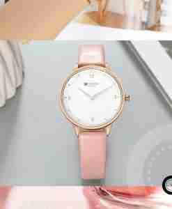 9039 ladies watch pink leather wrist watch Curren