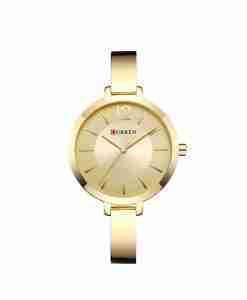 curren 9012 golden dial female wrist watch