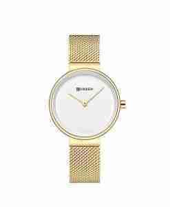 curren 9016 gold white female wrist watch