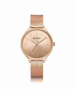 curren 9024 rose gold female gift watch