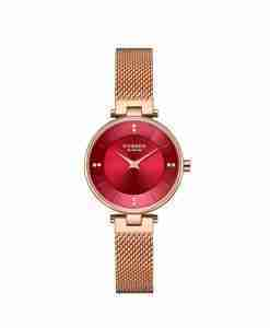 curren-9031-maroon-rosegold-female