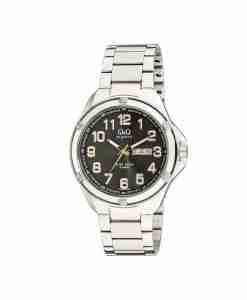 qq-a192j205y-black-dial-silver-chain