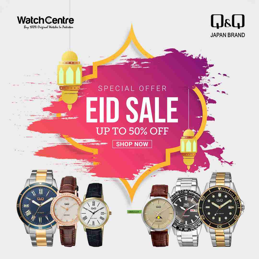 Eid Sale Upto 50% off on Q&Q Japan Original watches