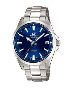 Caseio Edifice EFV-100D-2AVUDF model men's wrist watch in blue dial & silver stainless steel strap