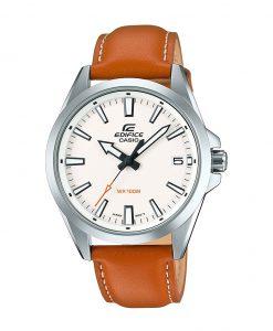 Casio Edifice EFV-100L-7AVUDF men's leather strap analog wrist watch