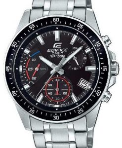 Casio Edifice EFV-540D-1AVUDF model men's black dial retrograde chronograph mens wrist watch