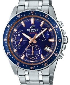 Casio Edifice EFV-540D-2AVUDF model blue dial men's chronograph wrist watch