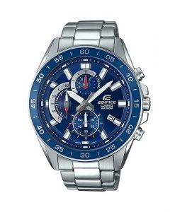 Casio Edifice EFV-550D-2AVUDF blue dial mens chronograph wrist watch